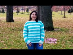 How to knit an ice cream sweater! skill level: easy Sizes: S (M, L, Finished Chest: about Pattern Meaning, Sweater Knitting Patterns, Knitting Ideas, Bind Off, Yarn Ball, Lion Brand, Cream Sweater, Garter Stitch, Needles Sizes