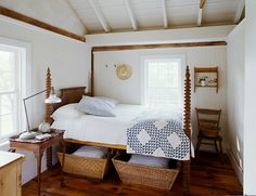 baskets under a high bed with great quilt starbright farm guest house bedroom-bluequilt_master_Web