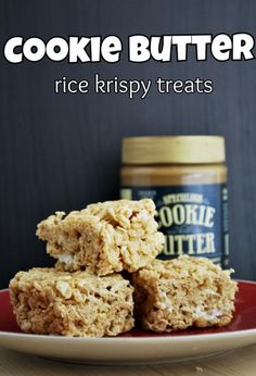 Give cookie butter a whole new purpose by using it to make these gooey rice krispy bars.