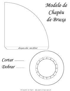 Molde chapéu de bruxa - Rosearts- Atividades para imprimir | Professores Compartilhando Atividades