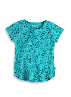 Pumpkin Patch - tee top - short sleeve lace front top - W3GL11003 - willow - 5 to 12