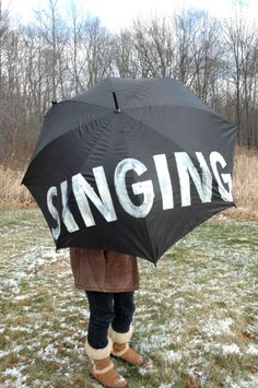 LOVE this umbrella. Singing in the rain! Just singing in the rain! what a glorious feelin....!!! yay!
