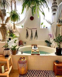 7 SPA-geïnspireerde badkamers waar je deze zomer dol op zult zijn - Daily Dream Decor Room Ideas Bedroom, Bedroom Decor, Cozy Bedroom, Jungle Bathroom, Boho Bathroom, Small Bathroom, Bathroom Ideas, Bathroom Plants, Budget Bathroom