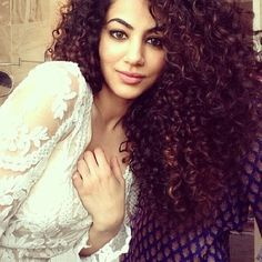 Voluminous curly hair