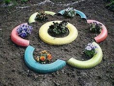Flor de neumaticos reciclados
