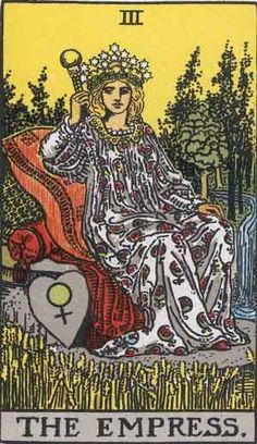Emperatriz, fertilidad femenina, madre tierra creadora del destino de sus hijas e hijos, dones propios e innatos, mente consciente, fuerza.