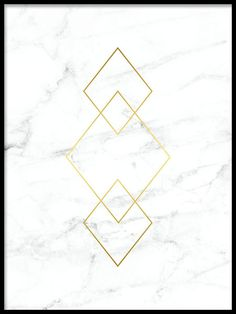Poster with diamond shapes in gold on white marble. Extremely beautiful and luxurious poster for the Kunst Online, Online Art, Gold Marble, White Marble, White Gold, Tumblr Wallpaper, Wallpaper Backgrounds, Backgrounds Marble, Bild Gold