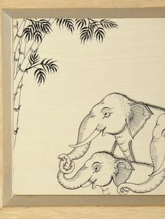 Elephant Hand-Painted Pattachitra