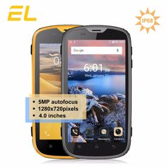 c112557ee83 E L W5 Mobile Phone Android Original Phones Waterproof Shockproof Phone  Quad Core Touch Phone Smartphone 4G