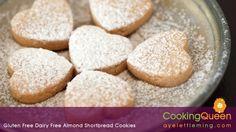 Gluten Free Dairy Free Almond Shortbread Cookies
