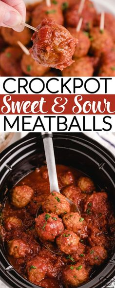 Crockpot Sweet and Sour Meatballsmade with frozen meatballs and a simple, homemade sweet and sour sauce. Sweet and Sour Meatballs are perfect for an appetizer or for a main dish! Easy Main Dish Recipes, Easy Dinner Recipes, Appetizer Recipes, Simple Recipes, Dip Recipes, Delicious Recipes, Appetizers, Slow Cooker Recipes Dessert, Crockpot Recipes