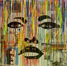 "For Sale: Angel Eyes by Kruti   $500   36""w 36""h   Original Art   https://www.vangoart.co/kruti-shah/angel-eyes-76478c38-e0b3-4b56-8d5b-9f85f0cbf51b @VangoArt"