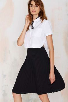 love this! Piccadilly Pleated Skirt - Skirts