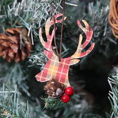 stags head christmas tree decoration by red berry apple | notonthehighstreet.com