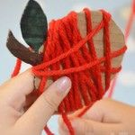 More on the blog... Pip Squeak and I adored this super simple Apple Craft. Looks lovely as a garland too!!!