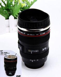 Canon EF 24-105 mm Tasse à café thermos imitation objectif