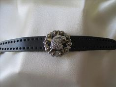 Leather Bracelet with Eagle and Stars