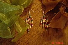 Christmas dangles by LadyBluesBaubles on Etsy