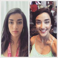 """Happy with my makeover from Shea Moisture here at #hispz15! don't I look like Frida Kahlo or some ish? #abetterwaytobebeautiful #latina #hispanic #hair…"""