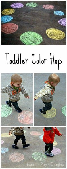 Toddler Color Hop Gross Motor Color Recogntion Game 12 Awesome Outdoor Activities for Active Toddlers Giveaway Toddler Learning Activities, Infant Activities, Kids Learning, Outdoor Activities For Preschoolers, Outdoor Activities For Toddlers, Teaching Toddlers Colors, Toddler Color Learning, Color Activities For Toddlers, Physical Activities For Kids