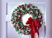 View this fun and easy Holiday inspired HERSHEY& KISSES Chocolates Wreath craft from Celebrate with Hershey& Wreath Crafts, Christmas Projects, Holiday Crafts, Christmas Holidays, Christmas Wreaths, Christmas Decorations, Christmas Ideas, Holiday Ideas, Wreath Ideas