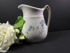 Antique LIMOGES creamer from Fifth Avenue Hotel by KLBVintageWares, $20.00