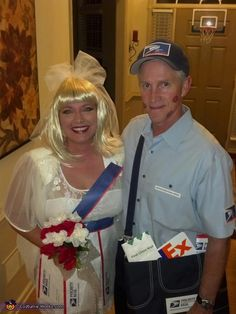 Mail Order Bride & Special Delivery Mailman - Halloween Costume Contest via @costumeworks