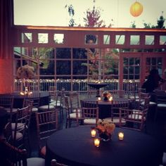 This is our top venue: Prairie Productions! Makes me consider gray table clothes