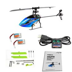 Hisky HCP80 FBL80 2.4G 6CH Flybarless Mini 3D RC Helicopter BNF