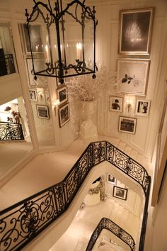 ralphlauren: Black-and-white glamour: architectural details inside of the women's Ralph Lauren flagship store in NYC