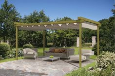 Sliding garden shelter with all options selected