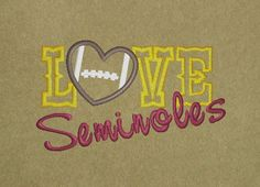 Love Seminoles Embroidery Digital File by BudgetCollections