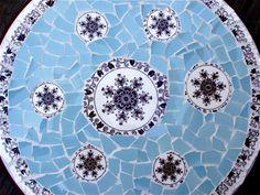 Masons Bow Bells Pique Assiette Mosaic Lazy Susan by laurawinzeler