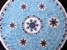Masons Bow Bells Pique Assiette Mosaic Lazy Susan by laurawinzeler
