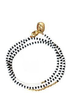 Porcupine Naibor Beaded Wrap Bracelet, 24K Gold Plated Beads - Zeal Living - 1