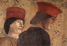44. 1465-74 - Camera degli Sposi - Parete nord, Corte di Ludovico Gonzaga (particolare) - Mantova, Palazzo Ducale