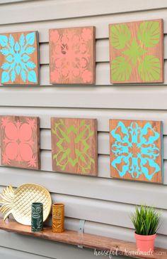 Create wall decor easy tropical wall art diy houseful of handmade best cr. Stencils For Wood Signs, Stencil Wood, Diy Wood Signs, Art Tropical, Tropical Wall Decor, Diy Wall Art, Diy Wall Decor, Silhouette School Blog, Silhouette Cameo