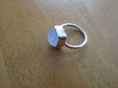 Zilveren ring met agaat.  Silver ring with agate.