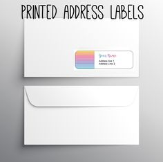 -140 Return Address labels- Printed address labels- Fashion business labels- Custom Digital or printed- Herringbone Rainbow- by okprintables, $10.00 EUR