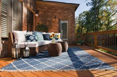 Pressure-treated deck designed and built by Atlanta Decing. Outdoor Rooms, Outdoor Furniture, Outdoor Decor, Deck Design, House Design, Decking Fence, Peachtree Corners, Fencing Companies, Decking Material