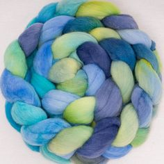 Hand painted POLWARTH combed  tops spinning wool by YummyYarnsUK
