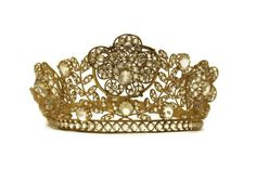 Hey, I found this really awesome Etsy listing at https://www.etsy.com/listing/232141627/antique-tiara-crown-for-french-madonna