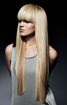 Great bangs and color