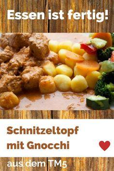 """Wer TM5 Rezepte auf Deutsch sucht, ist auf diesem Blog richtig. Der Schnitzeltopf ist ein """"all-in-one"""" Gericht. Heißt: Alles wird in einem Topf gekocht. Geht schnell und schmeckt der ganzen Familie. http://www.meinesvenja.de/2013/01/07/schnitzeltopf-mit-gnocchi-und-gemuse/"""