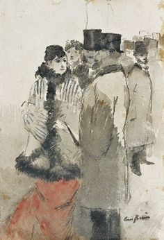 Jean-Louis Forain (French painter, 1852-1931) La rencontre