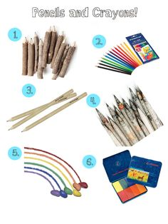 Pencils and Crayons - back to school
