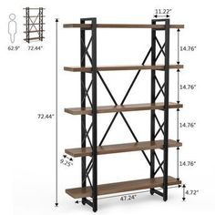Vintage industrial furniture – Eclectic Home Decor Today Metal Bookcase, Etagere Bookcase, Metal Shelves, Industrial Bookshelf, Rustic Bookcase, Open Bookcase, Modern Industrial Decor, Vintage Industrial Furniture, Industrial Style