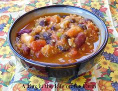 A Day in the Life on the Farm: Heart Healthy Pumpkin Chili for #PumpkinWeek