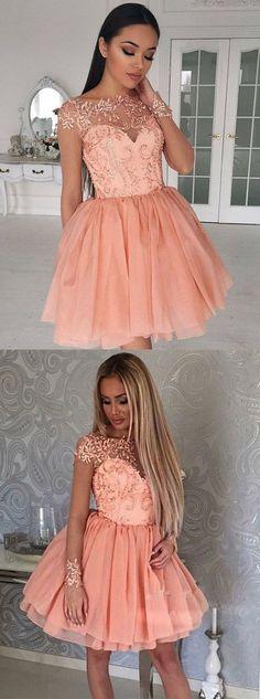 017 homecoming dresses,homecoming dresses short,beaded homecoming dresses,coral homecoming dresses,YY145