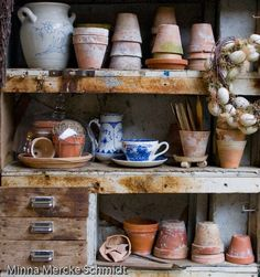 Potting bench. This would definitely stir creative juices.